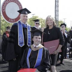 Mom Gets Honorary Degree After Helping Quadriplegic Son Graduate