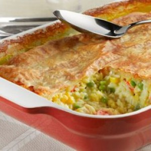 Chicken & Rice Pot Pie