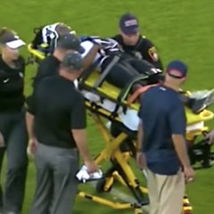 Immobilized UCF Player Carted Off Field In Seasons First Play
