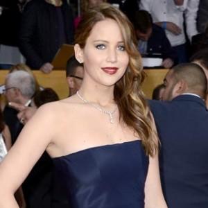 Jennifer Lawrence Has a Minor Wardrobe Malfunction