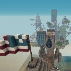 'BioShock Infinite' Recreated in 'Minecraft'