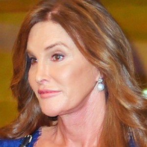 Caitlyn Jenner Continues Her Stylish Streak in a Navy Lace Dress