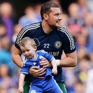 Goalkeeper's Son Steals the Show