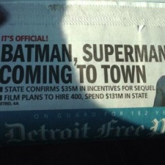 Batman vs. Superman To Shoot in Detroit